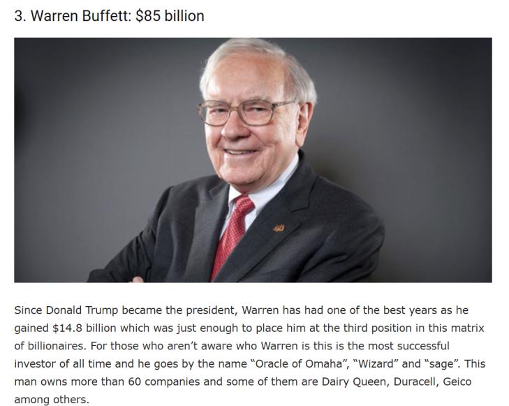Warren Buffett Richest Man