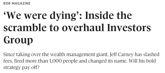 Dying inside. Investors Group