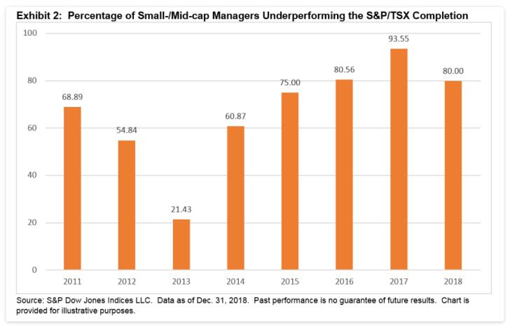 Active Small Cap Underperformance Canada 2018