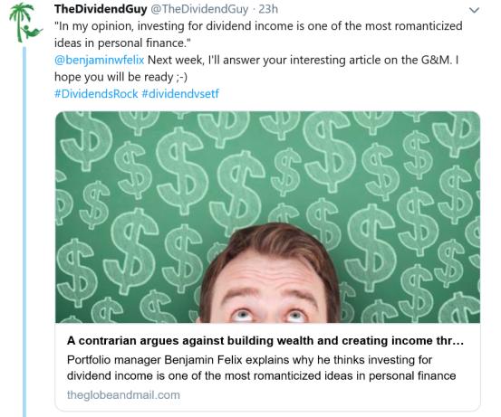 Dividend Guy vs Article